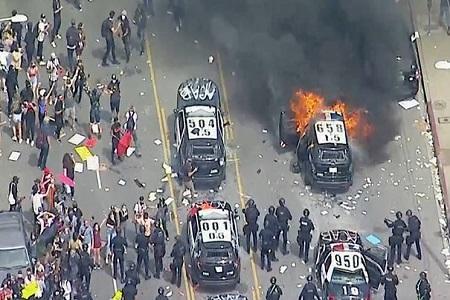 درگیری پلیس با معترضان در سراسر آمریکا؛ اعلام حکومت نظامی در چند شهر بزرگ
