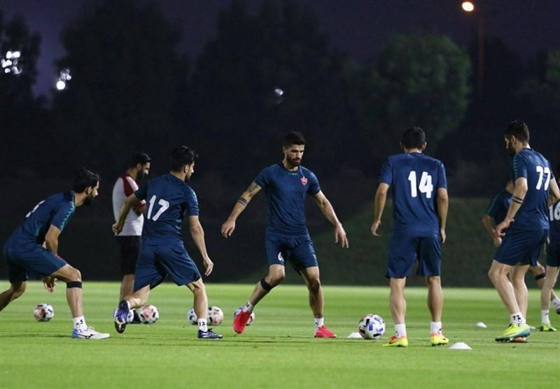 برگزاری آخرین تمرین پرسپولیس قبل از بازی با النصر