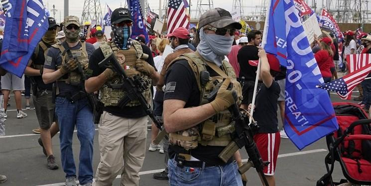 هواداران ترامپ با سلاح گرم به خیابان آمدند